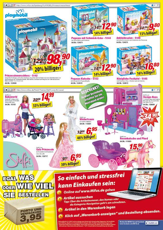 Playmobil Prinzessinnenschloss und Steffi Love