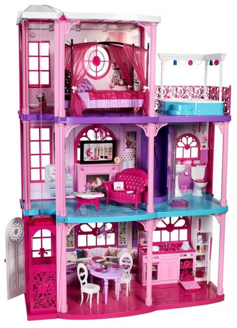 Wohnzimmer und Kamin große luxus küche : Barbie Traumvilla - MIFUS Family