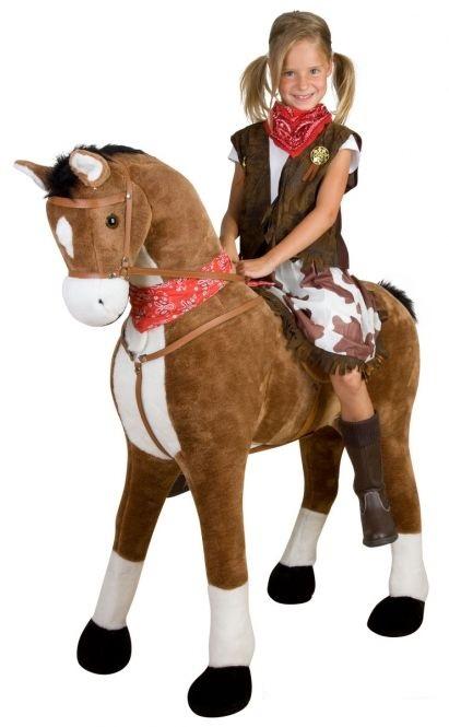 Pferd Plüsch Reiten Plüsch Pferd Braun Stehend