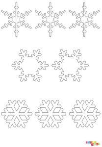 Bastelvorlage Schneeflocke