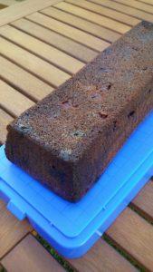 Kirsch-Schokoladen-Kuchen für einen Eiskönigin-Kuchen