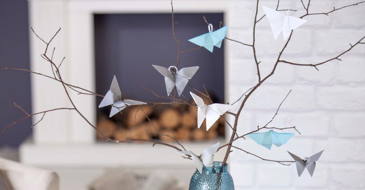 Deko Bastel Tipp Schmetterling Origami Mifus Family