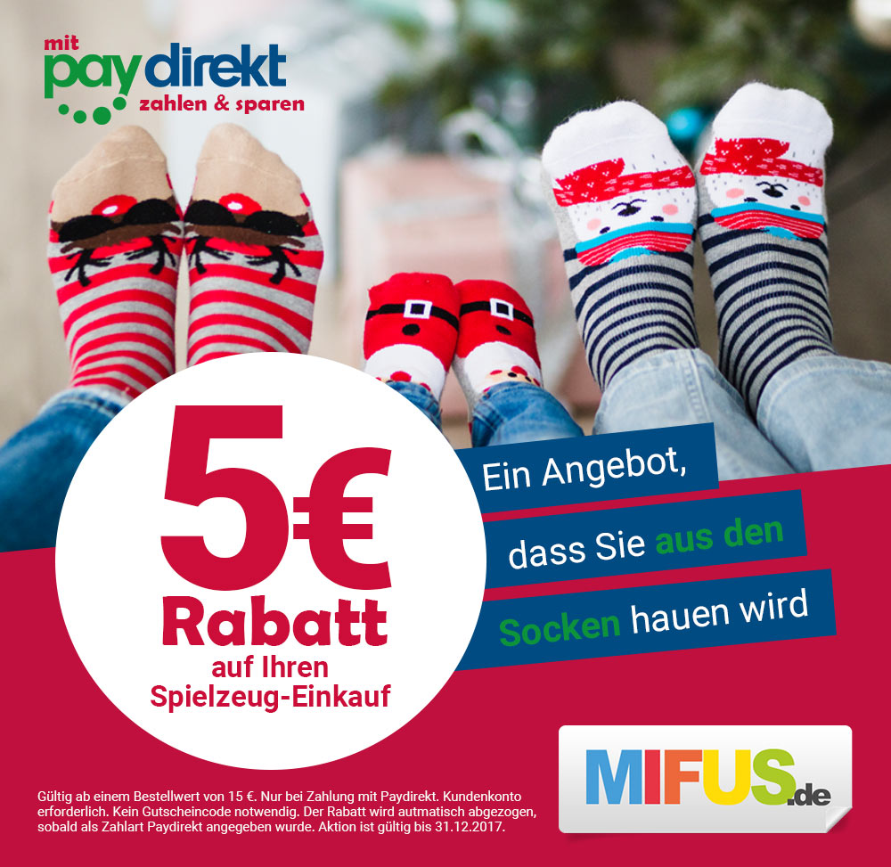 Mit Paydirekt zahlen & sparen - 5€ Rabatt - MIFUS Family