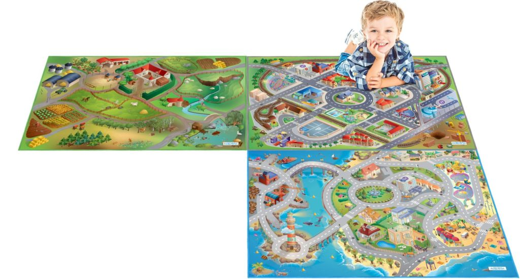 Kinderteppich mit verschiedenen Motiven