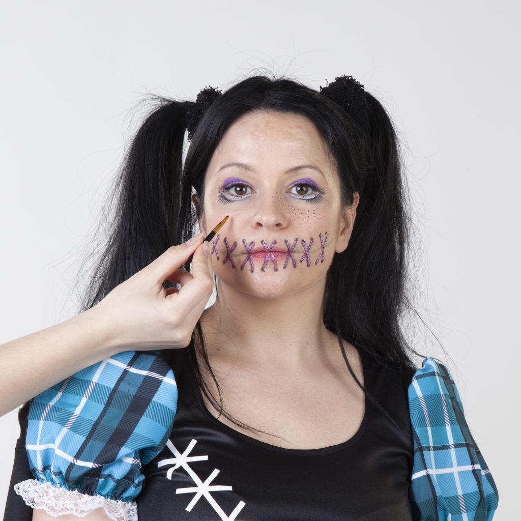 Halloween Schminken Voodoo Frau Mifus Family