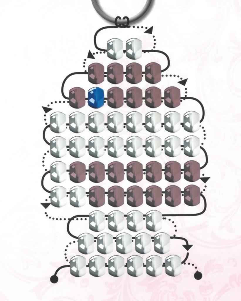 Gegenfädeltechnik bei Perlentiere - Vorlage von Perlenbastelset – Anhänger – Maskottchen von Lena®