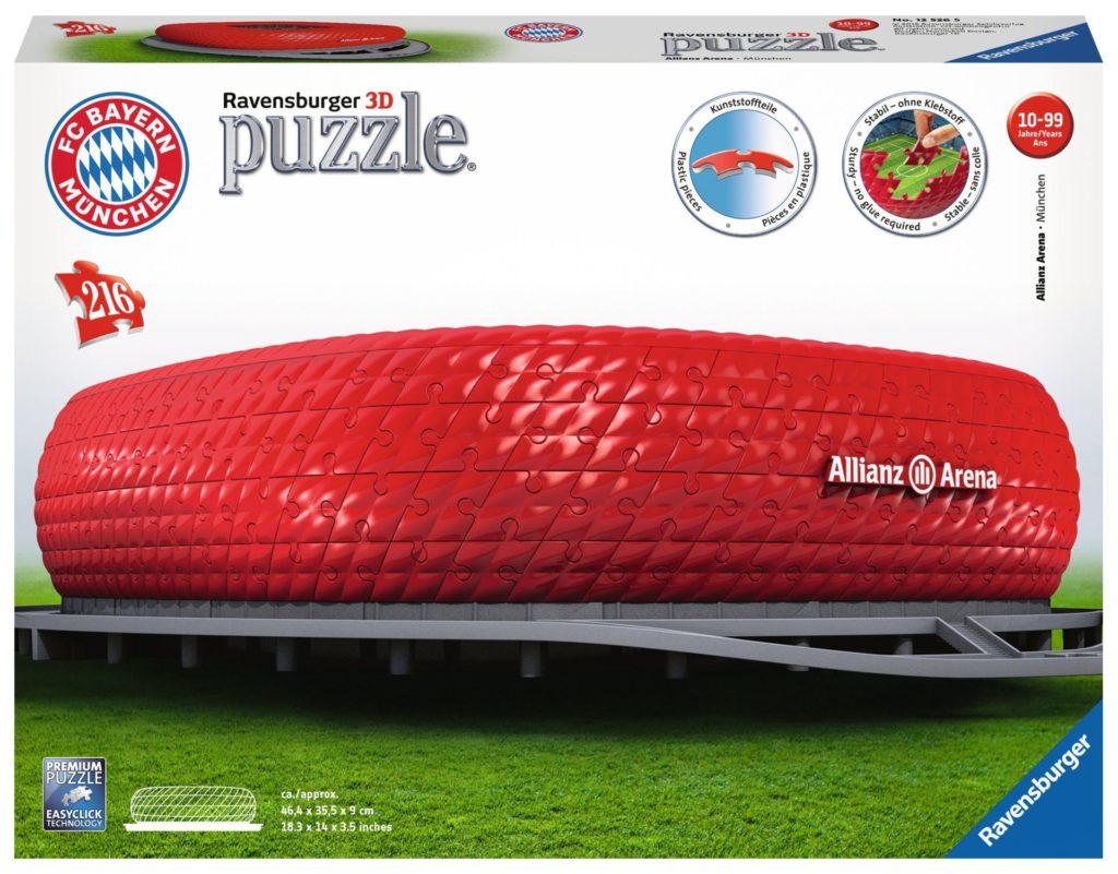 3D Puzzle-Bauwerke – Allianz Arena – 216 Teile von Ravensburger