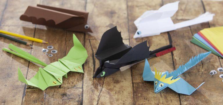 Papierdrachen Bastelanleitung - Drachenzähmen leicht gemacht