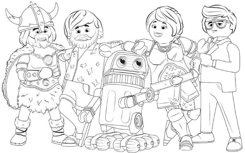 Playmobil The Movie - Ausmalbilder