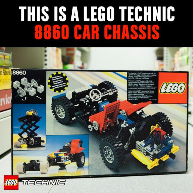 das erste LEGO® Technic Modell: Car Chassin 8860