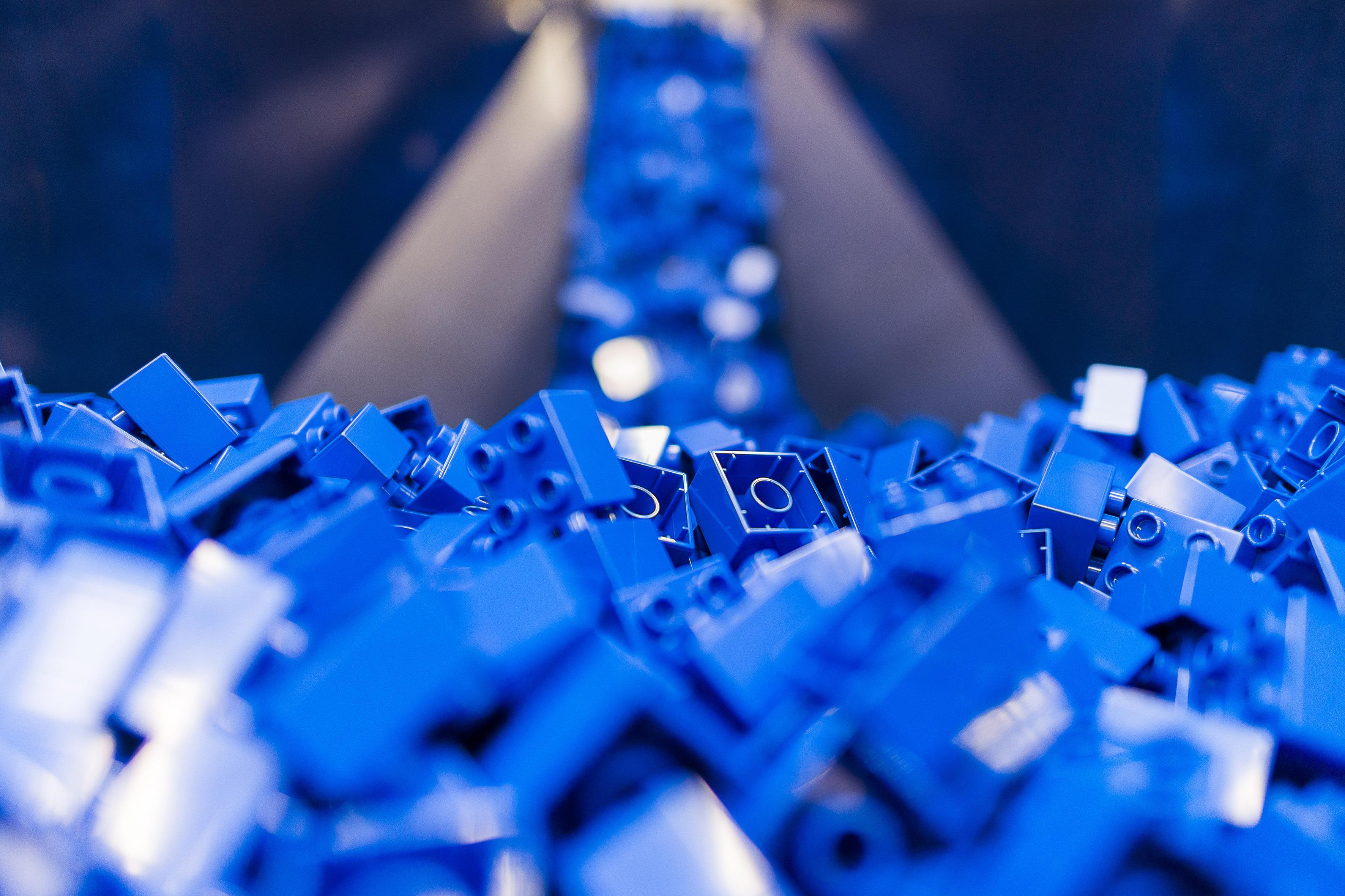 Blaue LEGO® DUPLO® Steine