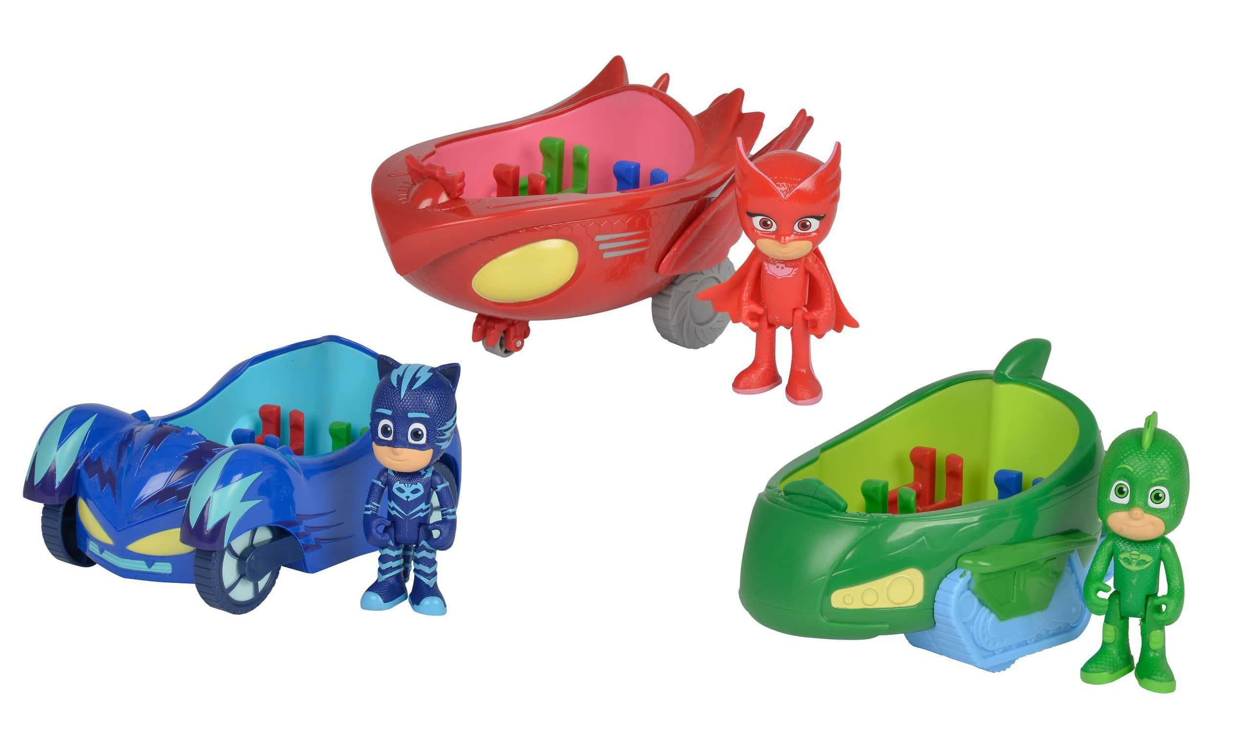 Catboy, Eulette und Gecko der PJ Masks