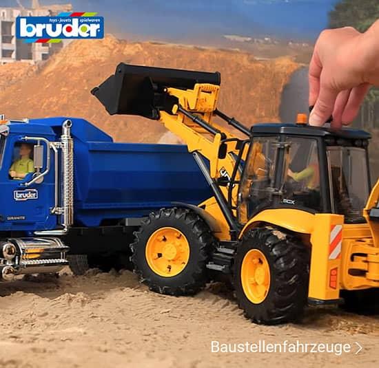 Baustellenfahrzeuge von Bruder