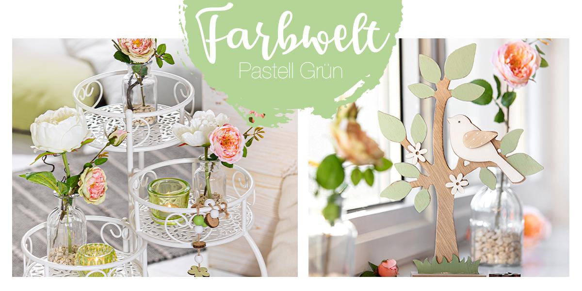 Fruehlingsdeko pastell gruen - Shop den Look