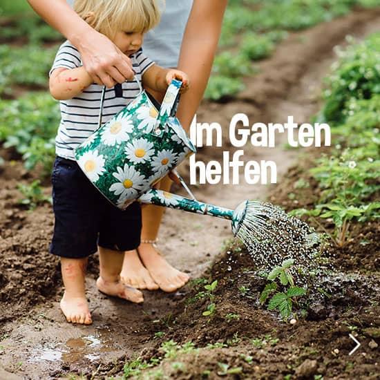Im Garten helfen