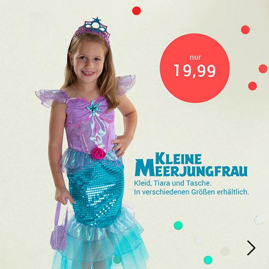 Meerjungfrauen Kostüm für Kinder
