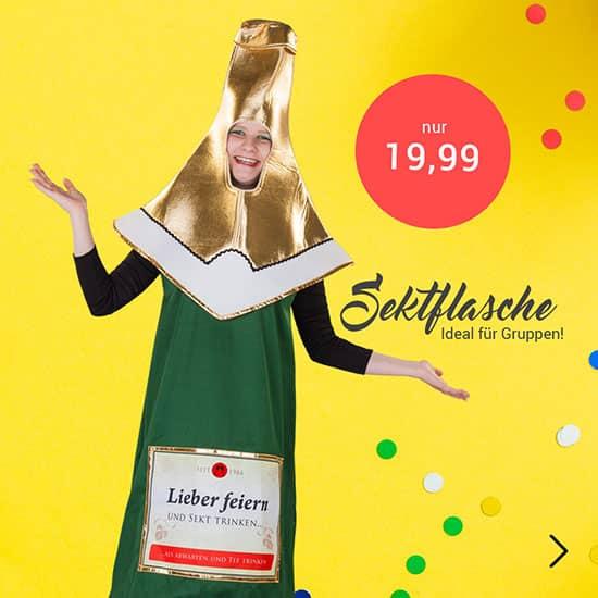 Kostüm Sektflasche