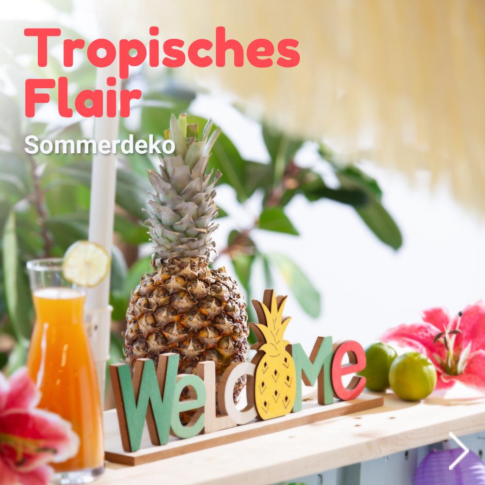 Sommerdeko tropisch