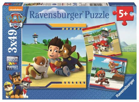 Puzzle-Box - Paw Patrol - Helden mit Fell - 3x49 Teile