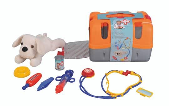 Tierarztkoffer mit 22cm Plüschhund Simba Toys