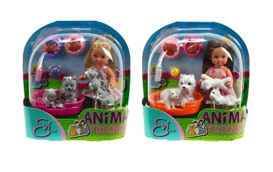 Evi Love Animal Friends - Evi Puppe mit Tieren