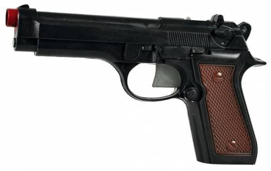 Kugelpistole mit Munition, Länge: 21cm