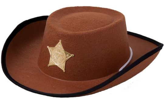 Cowboyhut - braun - für Kinder
