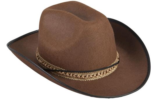 Cowboyhut - für Kinder - braun
