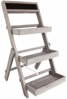 Pflanztreppe - aus Holz - 39 x 78 cm