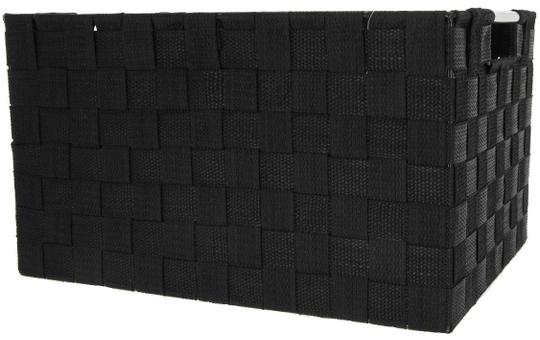 Aufbewahrungskorb - schwarz - 35 x 25 x 20 cm