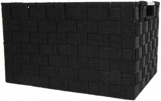 Aufbewahrungskorb - schwarz - 40 x 30 x 22 cm