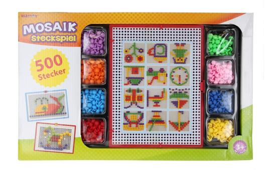 Besttoy - Mosaik Steckspiel - 500 Steckperlen