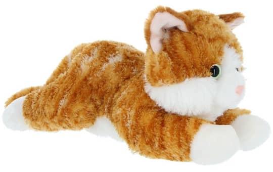 Besttoy - Plüsch Katze - rot gestreift