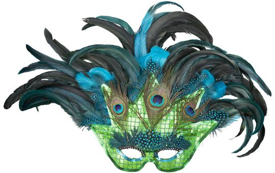 Maske - Pfau - für Erwachsene