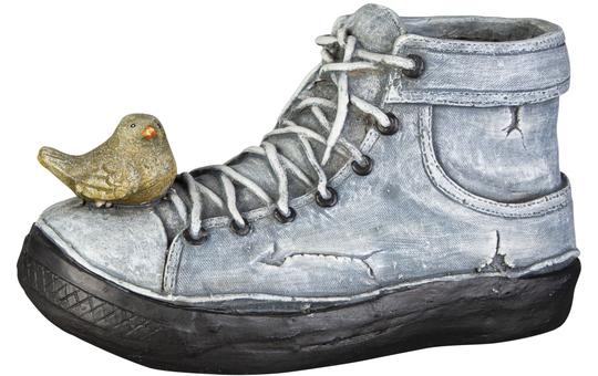 Pflanzgefäß - Schuh - aus Magnesia - 37 x 16 x 20 cm