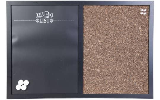 Memoboard - The big list - aus Holz - 60 x 40 cm