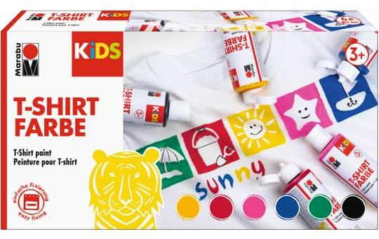 Marabu KiDS - T-Shirt Farbe - 6 Flaschen à 80ml