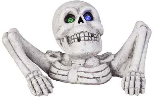 LED-Skelett - aus Magnesia - ca. 43,5 x 26 x 22 cm