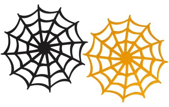 Platzdecke - Spinnennetz - aus Filz - Ø = 35 cm - 1 Stück