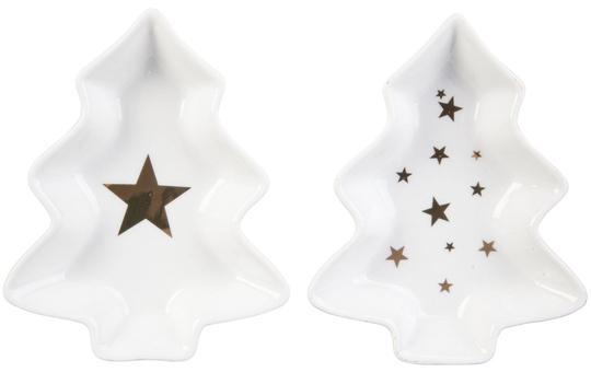 Dekoschalen - aus Keramik - ca. 14 x 11 cm - 1 Set