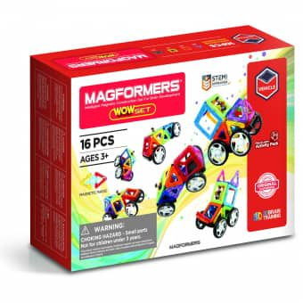 MAGFORMERS - Wow Set - Magnetspielzeug - 16 Teile