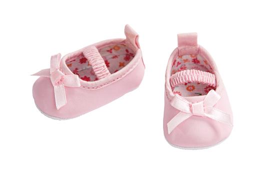 Puppenballerinas - rosa - Größe 38 - 45 cm