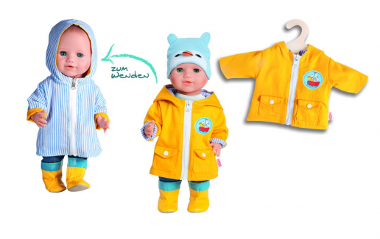 Puppen Wendeanorak - Größe 35 bis 45 cm