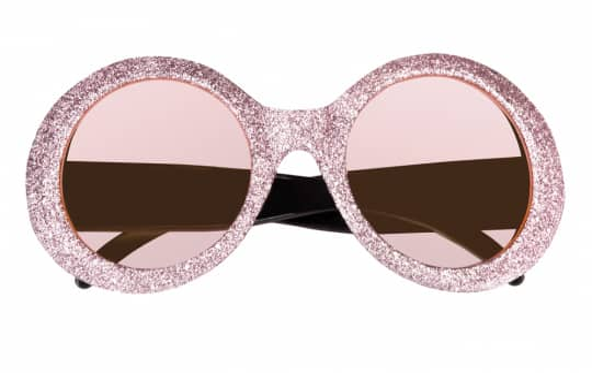 Brille - Jackie Glitter - für Erwachsene - pink