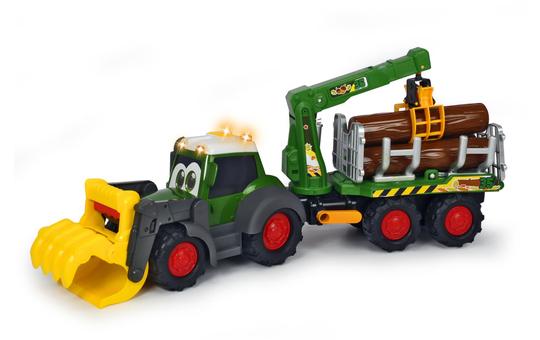 Traktor Happy Fendt mit Anhänger und Greifer