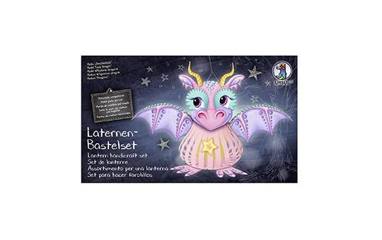Laternen Bastelset - Drachenlady - rosa