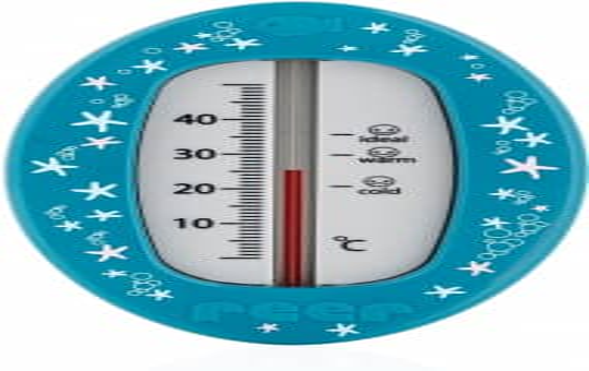 Badethermometer - blau mit Seesternen