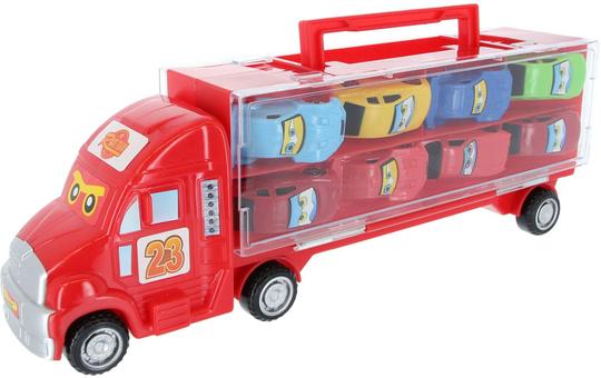 Besttoy - Autotransporter inklusive 10 Fahrzeugen