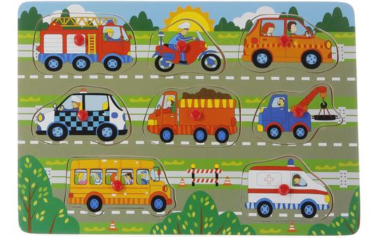 Besttoy - Steckpuzzle aus Holz - Fahrzeuge - 8 Teile