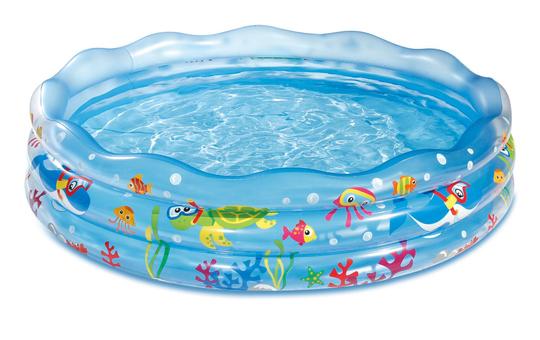 3-Ring-Pool - Meerestiere - ca. 165 cm
